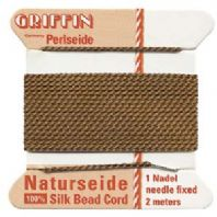 2M Griffin Silk Cord 0.6mm Brown Size 04